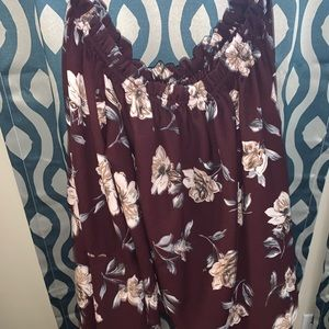 Off the shoulder top with flare sleeves Size L